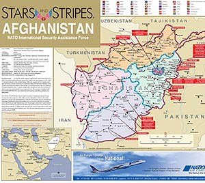 Stars And Stripes Afghanistan Map - Map of iraq us military bases