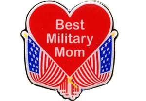 Best Military Mom Lapel Pin