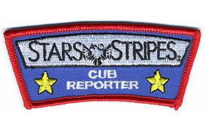 Stars and Stripes Cub Reporter Patch
