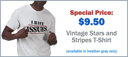 I Have Issues Stars and Stripes T-Shirt