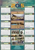 2015 Calendar Military Birthdays and US Holidays