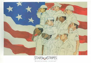 Patriotic Poster of Stars and Stripes